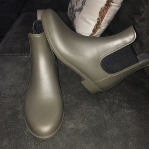 Army Green Ankle Rainboots